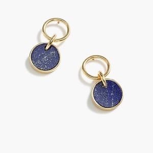 J. Crew Demi-Fine Lapis Earrings - NIB